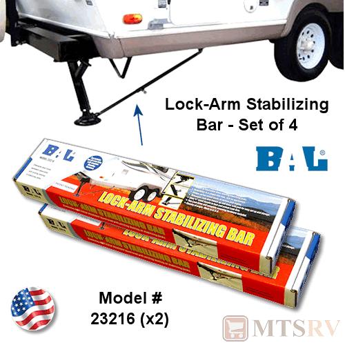Rv Stabilizer Bars : Bal lock arm stabilizing bar set of rv camper th
