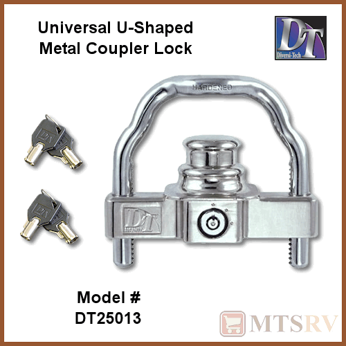 Dt universal maximum security trailer coupler lock