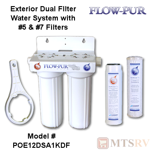 Flow Pur Ultimate Dual Exterior Rv Water Filtration System With 5 7 Filters