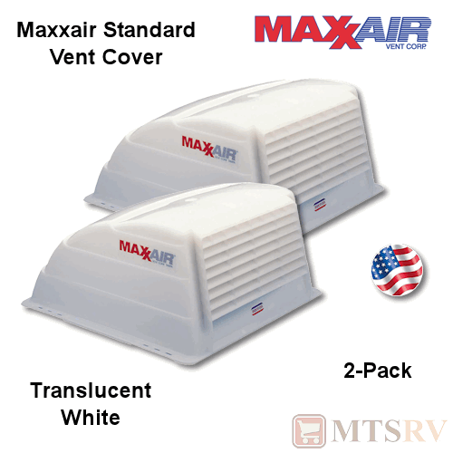 Maxxair Standard Vent Cover 2 Pack White Translucent