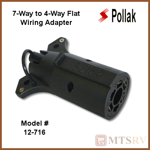 pollak 7 way to 4 way flat rv trailer cer wiring connector adapter 7 pin to 4 ebay