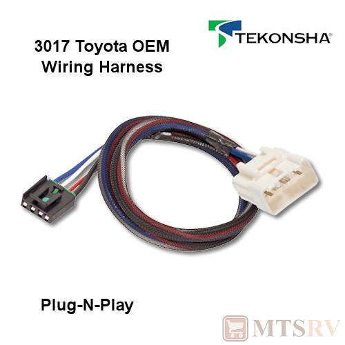 tekonsha 3017 oem wire harness fits p3 p2 primus iq n play brake ebay