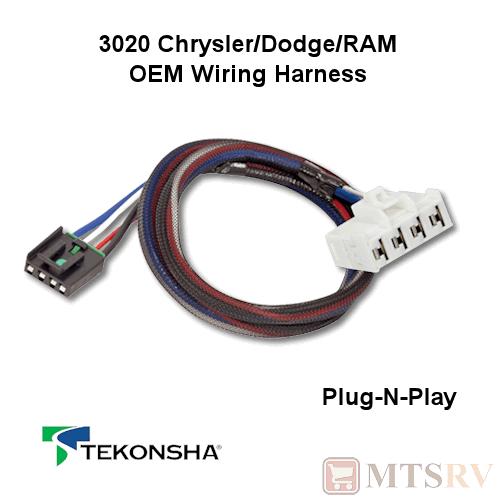 tekonsha 3020 oem wire harness fits p3 p2 primus iq n play brake ebay