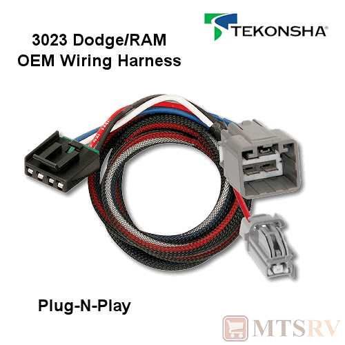 tekonsha 3023 oem wire harness fits p3 p2 primus iq n play brake