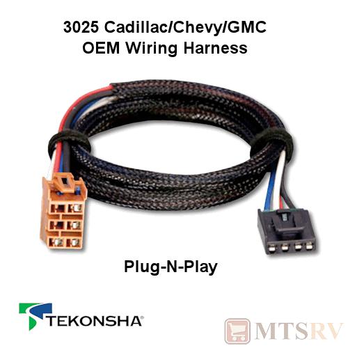 tekonsha 3025 oem wire harness fits p3 p2 primus iq n play brake