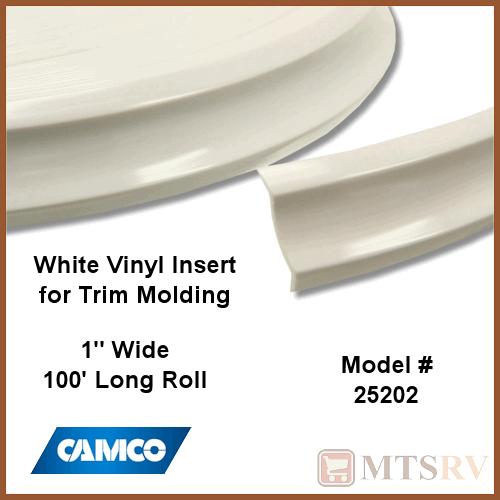 Camco 100 Roll Of Vinyl Insert Trim Molding Polar White 1 X 100 25202 Ebay