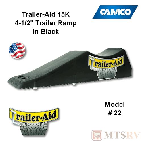 Camco Rv Black Trailer Aid Std 4 1 2 15k Tandem Wheel Tire Changing Ramp 22 Ebay