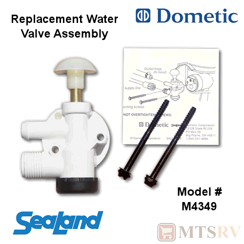Details about DOMETIC Sealand Toilet Water Ball Valve Assembly - Traveler  VacuFlush 385314349