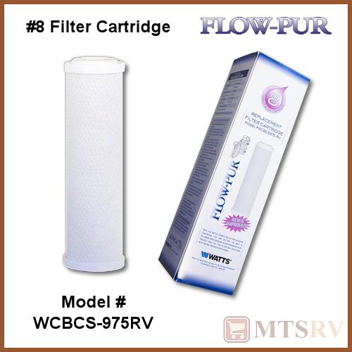 Watts RV Camper Trailer Marine Flow-Pur #8 Replacement Water Filter Cartridge