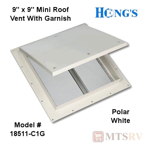 Hengs 18511C1G White 9 Mini Vent