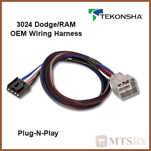 details about tekonsha 3024 oem wire harness fits p3 p2 primus iq plug n play brake control  tekonsha brake control wiring harness