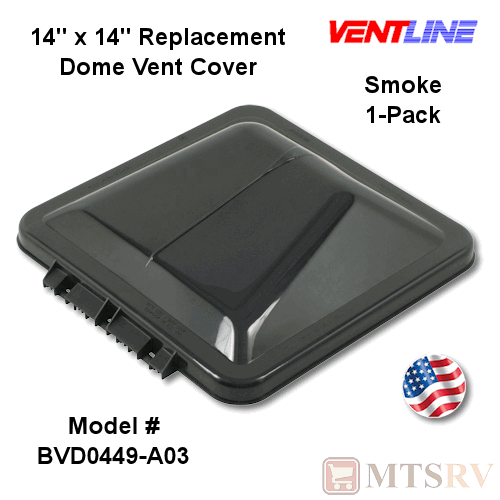 Roof Vent Covers >> Details About Ventline New Style Wedge Roof Vent Cover Smoke Single Rv Trailer 14x14